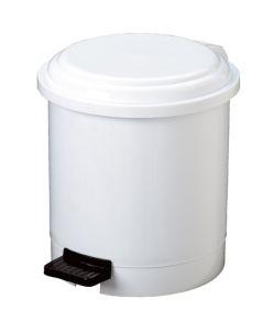 T906503 White Plastic pedal bin 3 liters (multiple 12 pcs)