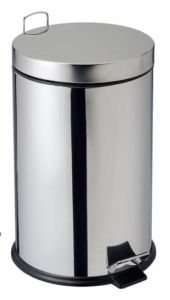 T906720 AISI 304 stainless steel pedal bin 20 liters