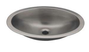 LX1280 Lavabo ovale in acciaio inox 510x390x155 mm - LUCIDO -