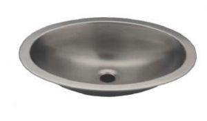 LX1320 Lavabo ovale in acciaio inox 380X280X125 mm - SATINATO -
