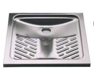 LX2060 WC alla turca in acciaio inox 800x800x136 mm da appoggio