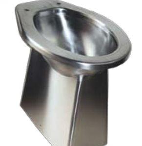 LX3140 WC per disabili da terra in acciaio inox530x360x500 mm