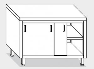 13200.10 Tavolo armadio g40 cm 100x60x85h piano liscio - porte scorrevoli