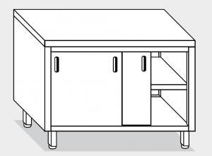 13200.14 Tavolo armadio g40 cm 140x60x85h piano liscio - porte scorrevoli