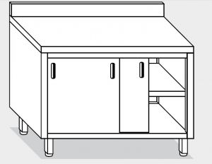 13201.13 Tavolo armadio g40 cm 130x60x85h alzatina posteriore - porte scorrevoli