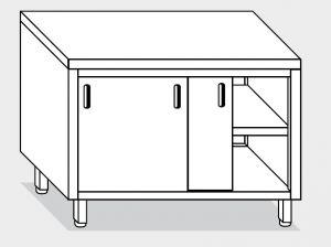 13250.17 Tavolo armadio g40 cm 170x80x85h piano liscio - porte scorrevoli