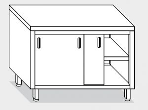 13300.18 Tavolo armadio g40 cm 180x70x85h piano liscio - porte scorrevoli