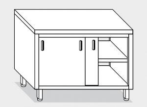 13302.14 Tavolo armadio g40 cm 140x70x85h piano liscio - porte scorrevoli su due lati