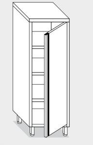 14200.06 Armadio verticale g40 cm 60x60x160h porta a battente - 3 ripiani interni regolabili