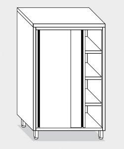 14204.13 Armadio verticale g40 cm 130x60x160h porte scorrevoli - 3 ripiani interni regolabili