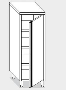 14206.06 Armadio verticale g40 cm 60x60x180h porta a battente - 3 ripiani interni regolabili
