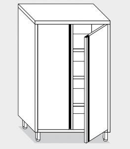 14302.10 Armadio verticale g40 cm 100x70x160h porte a battente - 3 ripiani interni regolabili