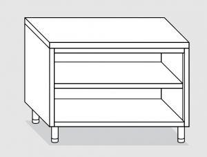 23000.16 Tavolo armadio a giorno agi cm 160x60x85h piano liscio - ripiano intermedio e di fondo