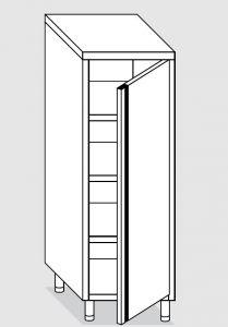 24206.06 Armadio verticale agi cm 60x60x180h porta a battente - 3 ripiani interni regolabili