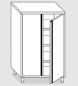 24207.08 Armadio verticale agi cm 80x60x180h porte battenti - 3 ripiani interni regolabili