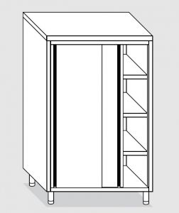 24304.14 Armadio verticale agi cm 140x70x160h porte scorrevoli - 3 ripiani interni regolabili