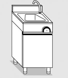 29030.04 Lavamani su armadio p/battenti agi cm 40x40x85h con: - erogatore - comando a ginocchio