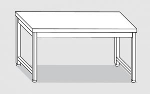 30000.10 Tavolo su 4 gambe past cm 100x80x85h piano liscio-senza ripiano inferiore