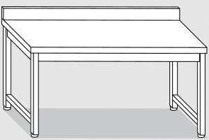 30101.18 Tavolo su 4 gambe past cm 180x90x85h alzatina posteriore-senza ripiano inferiore