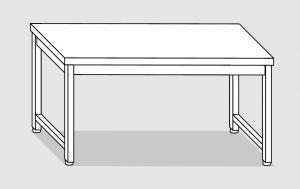 30200.14 Tavolo su 4 gambe past cm 140x120x85h piano liscio-senza ripiano inferiore