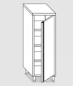 34300.05 Armadio verticale past cm 50x70x160h porta a battente - 3 ripiani interni regolabili