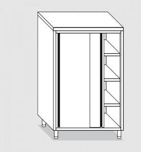 34304.10 Armadio verticale past cm 100x70x160h porte scorrevoli - 3 ripiani interni regolabili